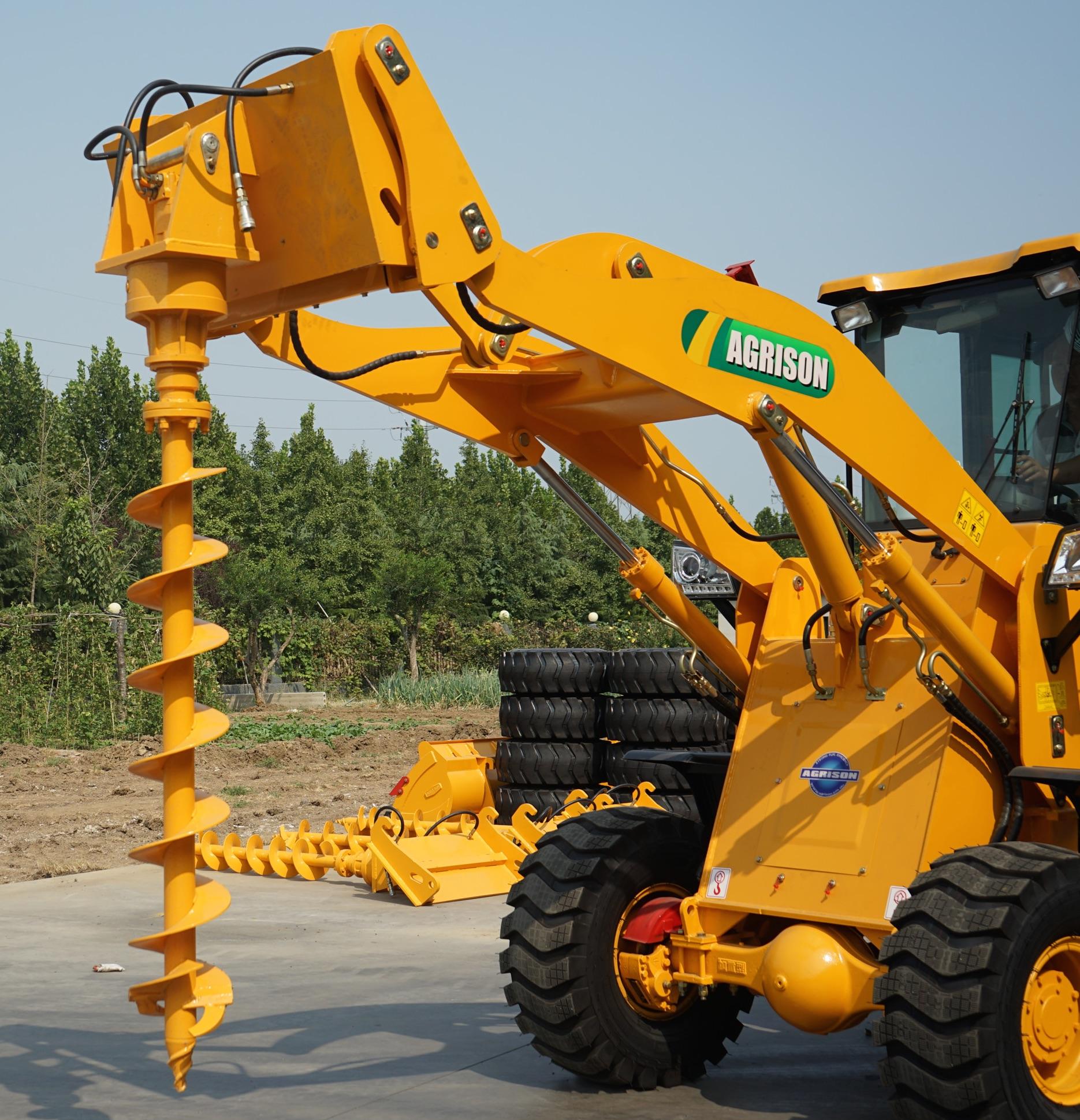 macchine agricole agrison australia Agrison-Wheel-Loader-TX-Post-Hole-Digger