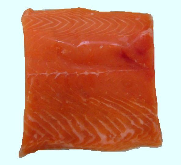 42 tipos de carnes de filete de pescados clase gourmet en imágenes Lomo%20Salmon%20Grado%20A%20corte%20Pequeno%20fondo%20Azul