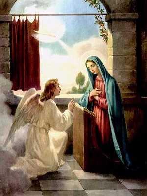 Les 5 Mystères joyeux du Rosaire récitation à Lourdes. Annonciation_50