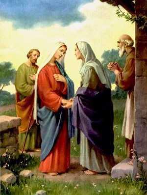 Les 5 Mystères joyeux du Rosaire récitation à Lourdes. Visitation_50