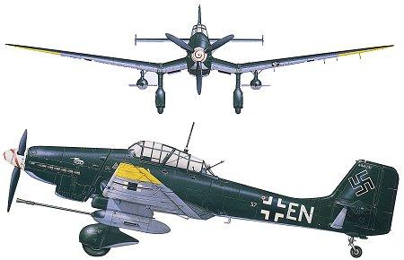 Cazas y ases de la segunda guerra mundial . Junkers-87-stuka