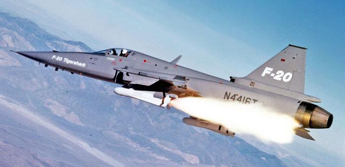 الطائرة المقاتلة المتعددة المهام F – 20 Tigershark Northrop-f-20-tigershark