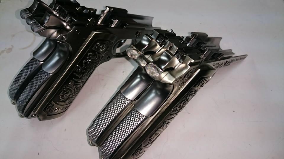 1911 de doble cañón. WE WE-Airsoft-1911-Double-Barrel-a