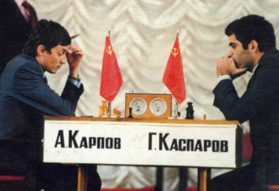 Kasparov contra Karpov, la historia del ajedrez Kasparovkarpov-1984