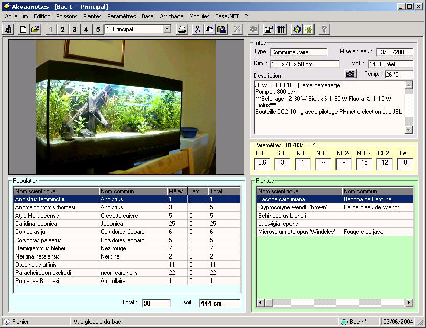 Guide du débutant: Logiciel gratuit pour suivre l'évolution de votre aquarium Akvaarioges_princ