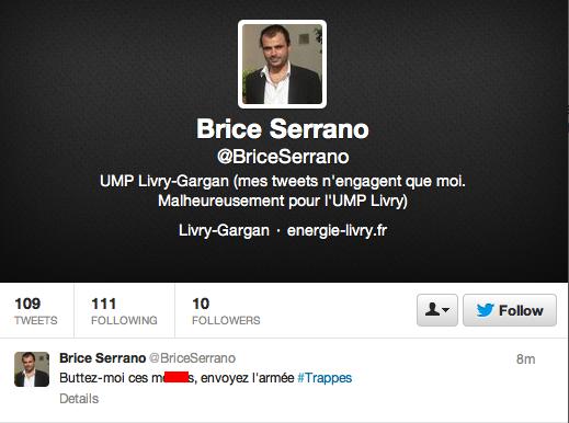 Appel au meurtre en France d'1 Ump ? (Trappes) Brice-serrano-trappes