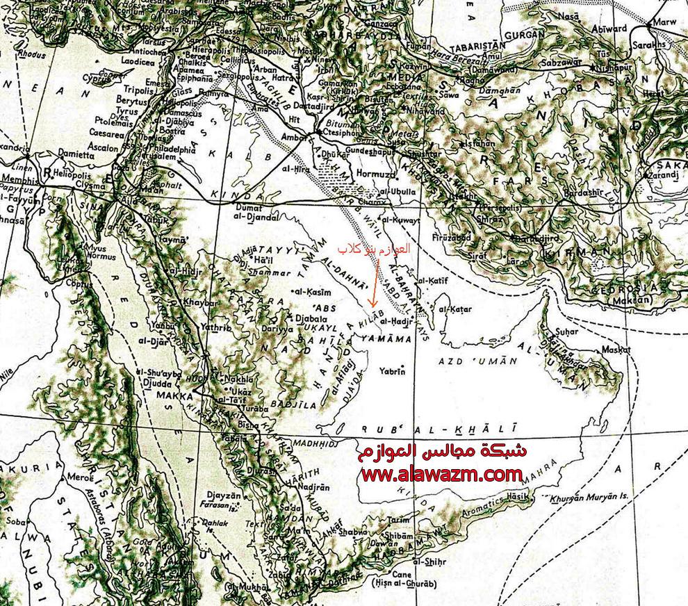 العوازم هوازن للباحث محمد بن علي القحطاني Map5