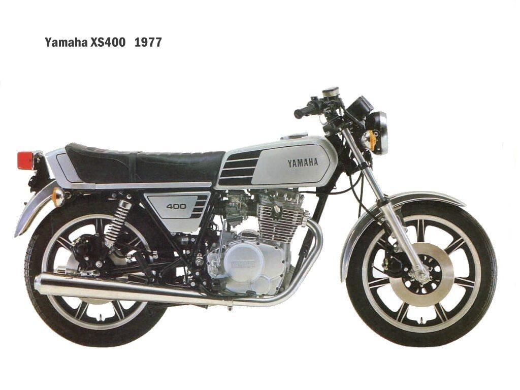 XS 400 bratstyle, tracker à voir... - Page 3 Yamaha-XS400-1977