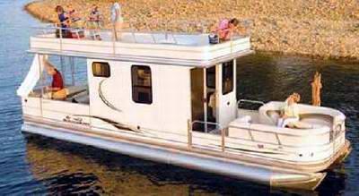 le bateau c'est dépassé ;) vive la caravane amphibie ! Sun-tracker-regency-party-cruiser-houseboats-21291002