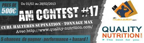 Am Concours De Curl Haltères Supination Avec Quality-Nutriti Compet-AM-N17