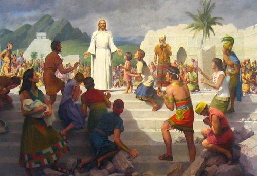 ... la Misión de Jesús en la tierra ... - Página 3 Christ_visits_the_Americas_cropped_center_detail