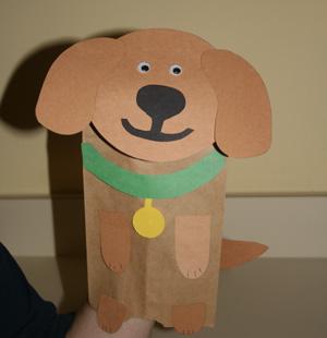 LAVORI CREATIVI : ANIMALI CREATI CON MATERIALI VARI Dog-craft