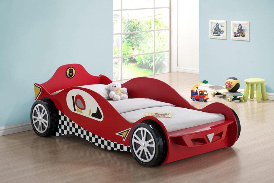غرف نوم على شكل سيارات للأطفال  Modern-Boys-Bed-Set
