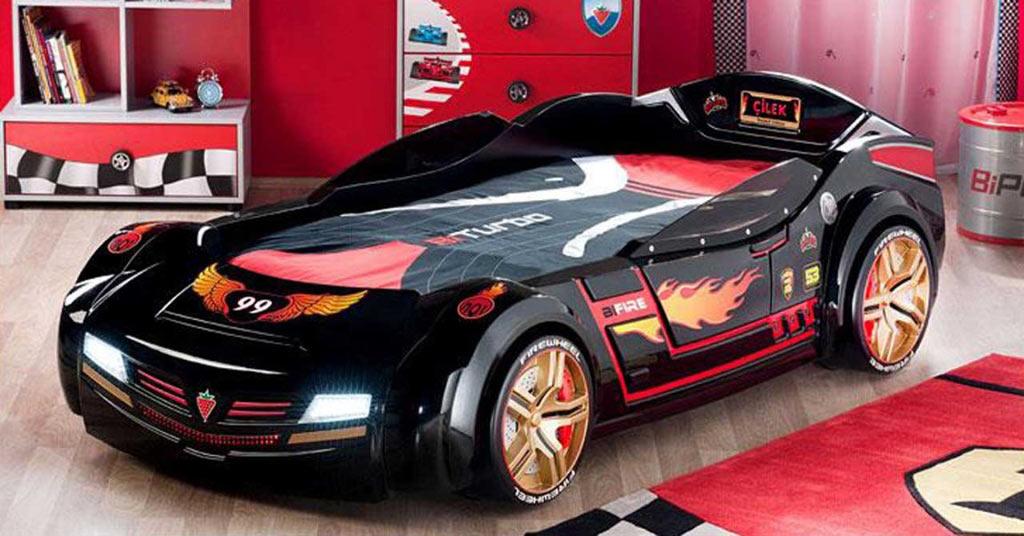 غرف نوم على شكل سيارات للأطفال  Sport-Race-Car-Beds-for-Boys-Bedroom