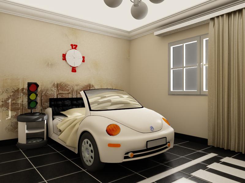 غرف نوم على شكل سيارات للأطفال  Baby_bedroom_by_heshamdesign