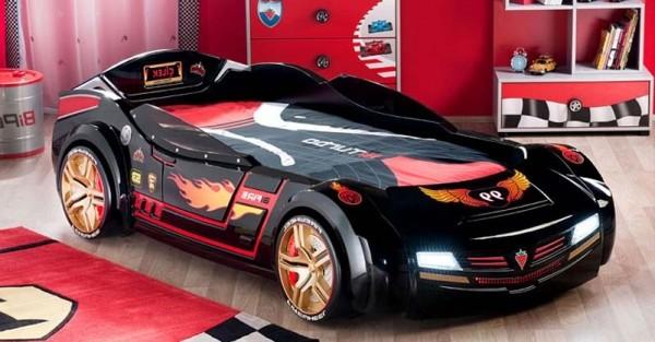 غرف نوم على شكل سيارات للأطفال  Modern-hot-wheel-child-car-bed-theme-for-boys-bedroom-e1313869725880
