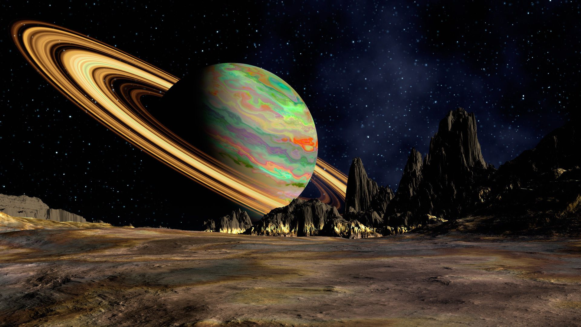 من ما يتكون زحل Saturn-is-a-gas-giant-because-it-is-predominantly-composed-of-hydrogen-and-helium
