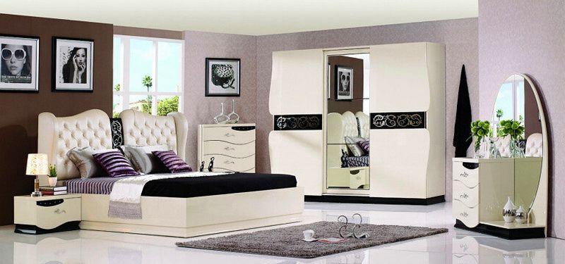 غرف نوم حديثة White-and-Black