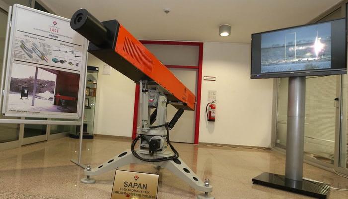 """تركيا تختبر بنجاح مدفعها الكهرومغناطيسي """"سابان Sapan"""" ذي السرعة الفائقة. 100863"""