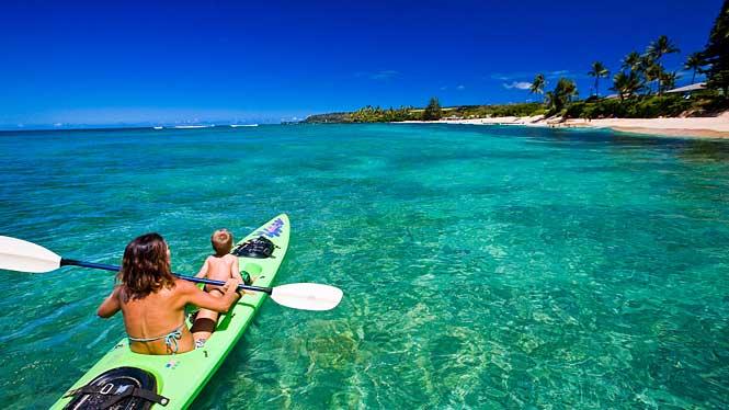 Me ane te nje fotoje tregoni se ku do te deshironit te ishit ne keto momente? Hawaii-kayaking