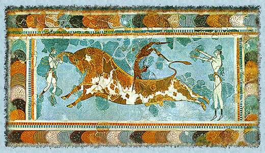 Le mythe de l'Atlantide (avec documentaires) Knossos-bull