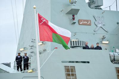 """الكورفيت الثاني """"الرحماني"""" من الفئة (خريف) يصل إلى عمان A100"""