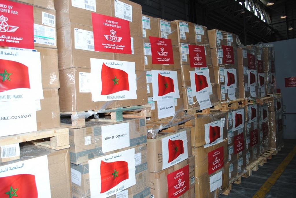 """الملك محمد السادس يقدم 15 طنا من المساعدات الطبية لغينيا كوناكري لمواجهة """"إيبولا %D8%A7%D9%84%D9%85%D8%B3%D8%A7%D8%B9%D8%AF%D8%A7%D8%AA-%D8%A7%D9%84%D9%85%D9%82%D8%AF%D9%85%D8%A9-1024x685"""
