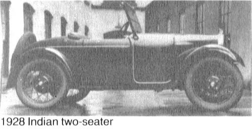 Qu'est-ce qui, en 1928/29 avait quatre roues, un bicylindres en V ou 4 en ligne... Indian-1928