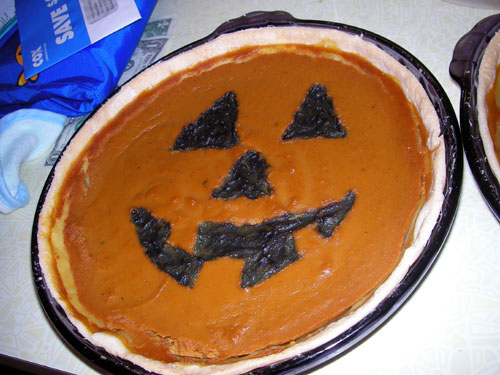 It's October. Halloweenmenu_pie