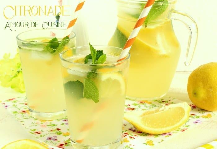 """وداعا لشاربات المحلات """"سر الشاربات المنعشة و الرائعة من مطبخي خطوة بخطوة"""" Citronnade-ou-limonade-au-citron-fait-maison"""