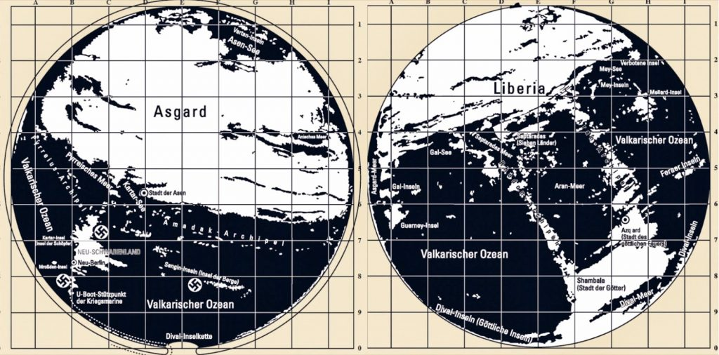 The Hollow Earth maps of the Third Reich: There is an entrance to the Hollow Earth 713b8-agartha-maps-1024x506