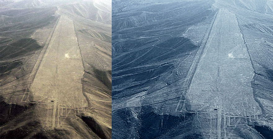 One of the World's Greatest Mysteries. What happened to the mountain tops in Nazca, Peru? Nazca-Airport