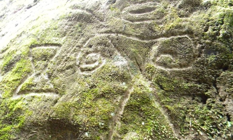 Hikers discover Ancient stone carvings of strange beings and geometric shapes at Montserrat 960-2