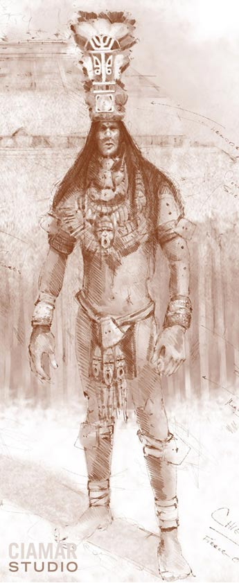 The Establishment Has Already Acknowledged a Lost Race of Giants   Digital-sketch-ancient-Florida-giant