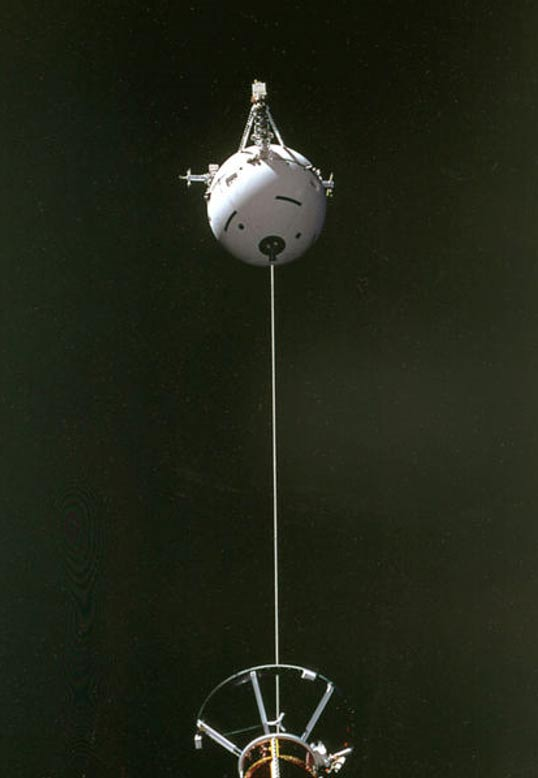 Orbs in Space: An Unconventional Phenomenon, and the Tether Experiment  Satellite-and-tether