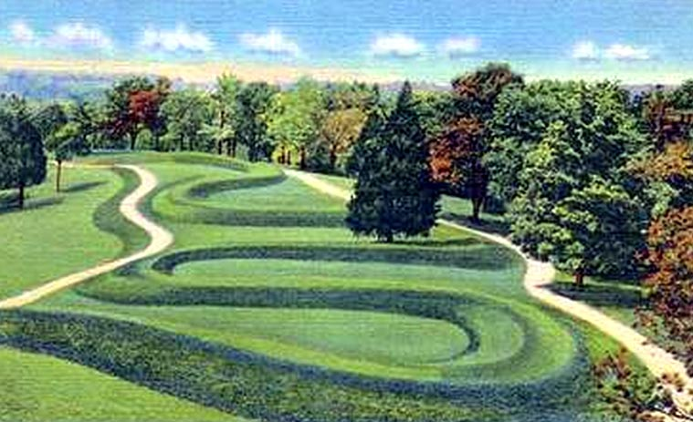 The Global Prehistoric Culture Ancient Earthworks of North America suggest pre-Columbian European contact Serpent-Mound-Ohio