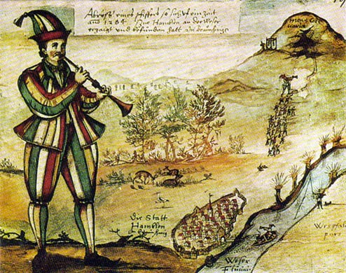 la calle sin musica Oldest-known-picture-of-the-Pied-Piper