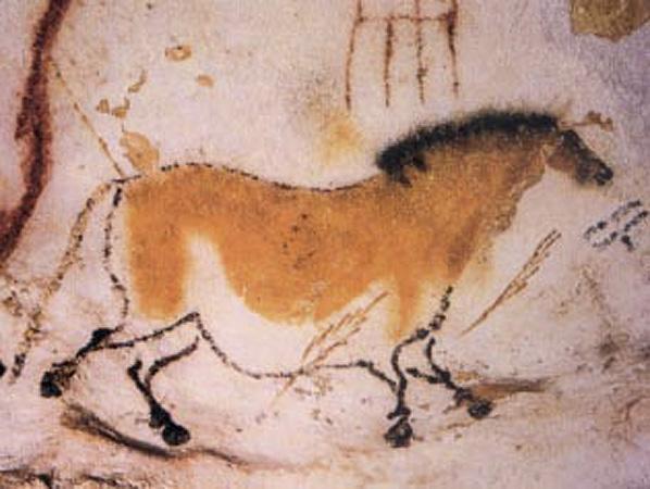 PREHISTORIC SHAMAN ART.. Lascaux-horse