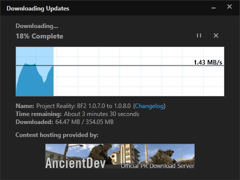 [PR BF2] Le lanceur et les mises à jour coté v1.0 Downloadingupdate
