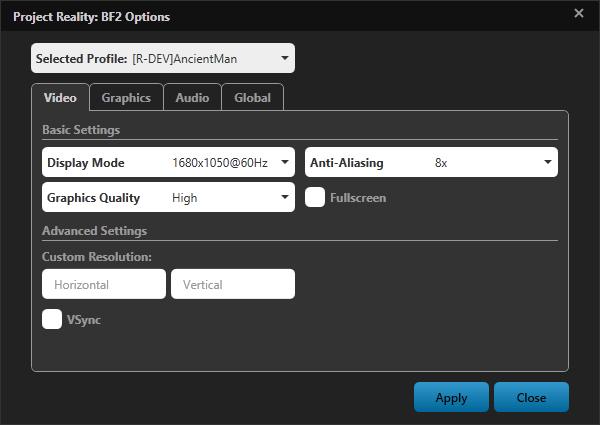 [PR BF2] Le lanceur et les mises à jour coté v1.0 Options