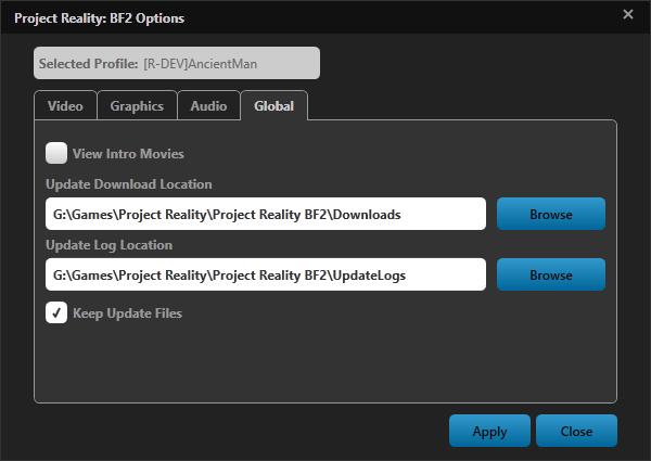 [PR BF2] Le lanceur et les mises à jour coté v1.0 Options4