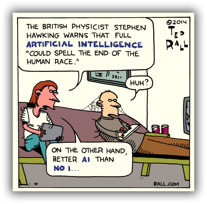 Stephen Hawking Announces Plan To Hunt For Alien Life Ted-rall-steven-hawking-bmod-cartoon