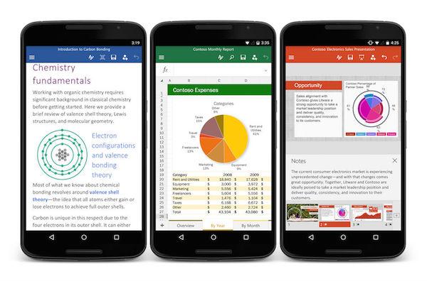 تطبيقات مايكروسوفت Word, Excel, PowerPoint لأجهزة اندرويد بالنسخ النهائية Office-for-Android