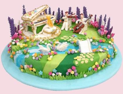Happy Birthday Savannah PianoCake