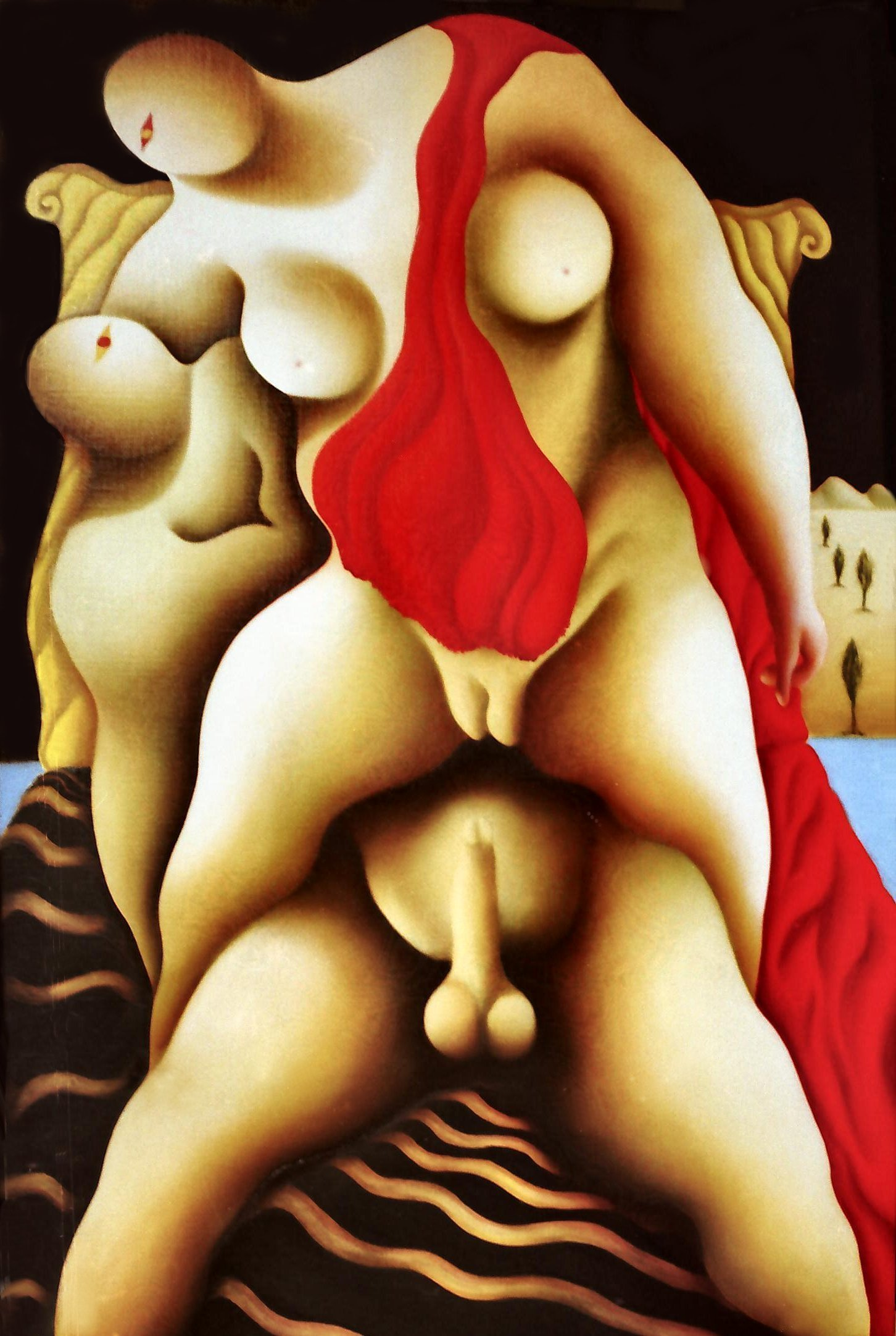 Il sesso nelle antiche religioni 09-Eros-3-olio-su-tela-cm-100x150-98-99