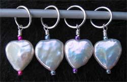Nguyên liệu và dụng cụ đan len Pearl-hearts