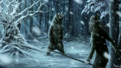 [MINI-Kroft] o verdadeiro Norte Snow%20forest%20animals%20men%20fantasy%20art%20creatures%20bears%201920x1080%20wallpaper_www.animalhi.com_42