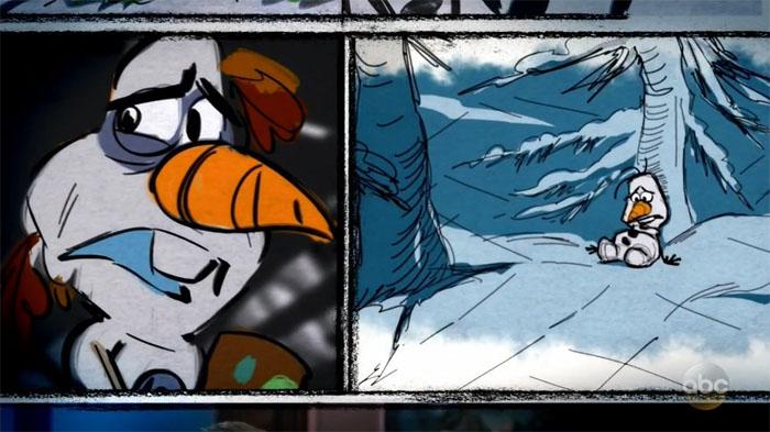 Joyeuses Fêtes avec Olaf [Cartoon Walt Disney - 2017] Olafs-frozen-adventure-storyboard2