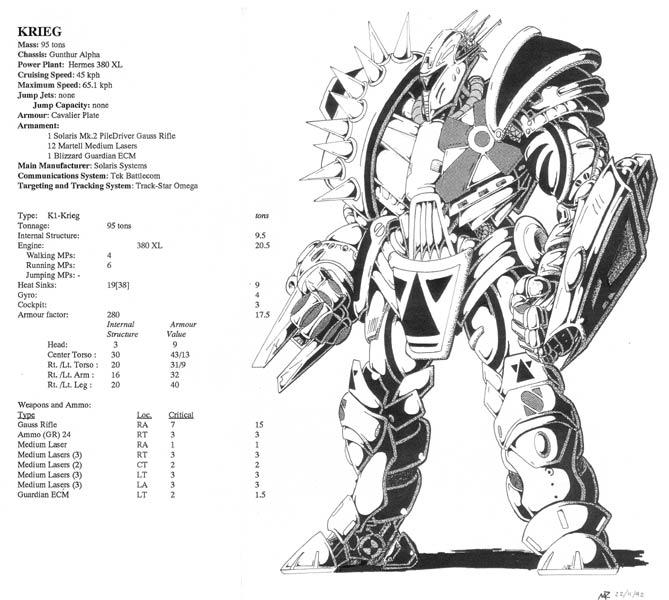 Battletech Designs Krieg