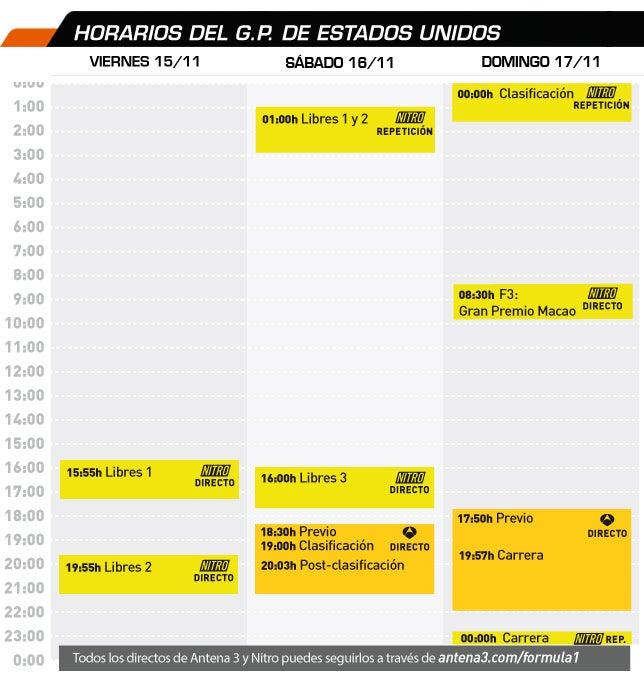 Fernando Alonso, F1  - Página 6 HorariosUSA